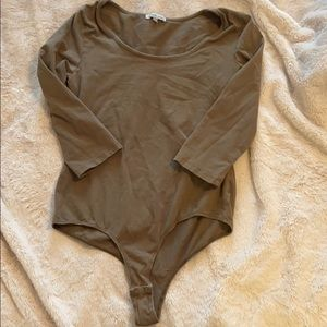 Charlotte Russe olive green body suit
